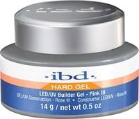 IBD LED/UV Builder Gel Pink III, 14 г. – холодный розовый камуфлирующий гель для наращивания ногтей