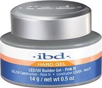IBD LED/UV Builder Gel Pink IV, 14 г. – теплый розовый камуфлирующий гель для наращивания ногтей