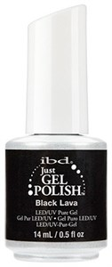 "IBD Just Gel Polish Black Lava, 14 мл. - гель лак IBD ""Черная лава"""