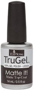EzFlow TruGel Matte It! Top Coat, 14 мл. - топ для гель лака, матовый