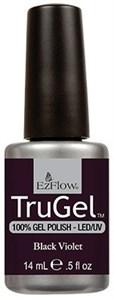 "EzFlow TruGel Black Violet, 14 мл. - гелевый лак ""Темный фиолетовый"""