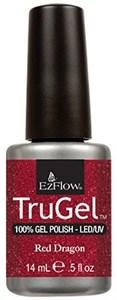 """EzFlow TruGel Red Dragon, 14 мл. - гелевый лак """"Красный дракон"""""""