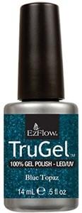 """EzFlow TruGel Blue Topaz, 14 мл. - гелевый лак """"Голубой топаз"""""""