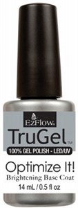 EzFlow TruGel Brightening Optimize It! Base Coat, 14 мл. - белая база гель-лака, для усиления яркости цвета