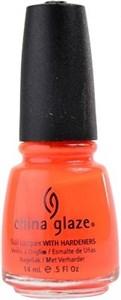 """China Glaze Orange Knockout, 14мл. -Лак для ногтей """"Оранжевый неоновый"""""""