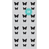 AEROPUFFING Stencil №39 - трафареты для Аэропуффинга №39 бабочки