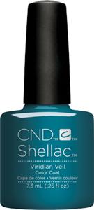 "CND Shellac Viridian Veil, 7,3 мл. - гель лак Шеллак ""Зеленая вуаль"""