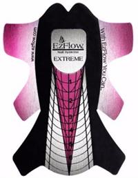 EzFlow Nail Forms Extreme 100шт. - формы для наращивания длинных ногтей