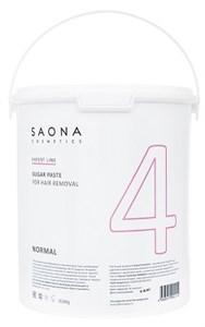 Saona Expert Line Sugar Paste 4 Normal, 3500 гр.- Нормальная разогреваемая сахарная паста для шугаринга Саона