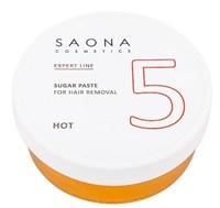 Saona Expert Line Sugar Paste 5 Hot, 200 гр.- Твёрдая разогреваемая сахарная паста для шугаринга Саона
