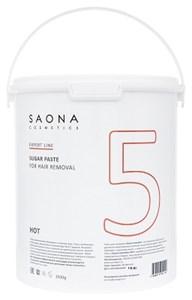 Сахарная паста для шугаринга Saona Expert Line Sugar Paste 5 Hot, 3500 гр. твёрдая разогреваемая