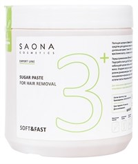 Saona Expert Line Sugar Paste 3+ Soft&Fast, 1000 гр.- Мягкая без разогрева, сахарная паста для шугаринга Саона