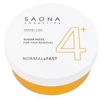 Saona Expert Line Sugar Paste 4+ Normal&Fast, 200 гр.- Нормальная без разогрева, сахарная паста для шугаринга Саона