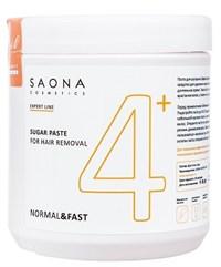 Saona Expert Line Sugar Paste 4+ Normal&Fast, 1000 гр.- Нормальная без разогрева, сахарная паста для шугаринга Саона