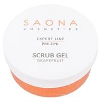 Saona Expert Line Scrub Gel Pre-Epil Grapefruit, 300 мл.- Очищающий гель-скраб для кожи с экстрактом грейпфрута Саона