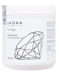 Saona Diamond Line Sugar Paste for Hair Removal Silver, 1000 гр.- Мягкая без разогрева, сахарная паста для шугаринга Саона