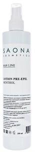 Saona Man Line Lotion Pre-Epil Menthol, 350 мл.- Лосьон очищающий для кожи с ментолом Саона