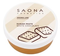 Saona Aroma Line Sugar Paste White Chocolate, 200 гр.- Разогреваемая сахарная паста средней плотности для СПА шугаринга с белым шоколадом Саона