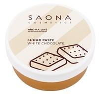 Saona Aroma Line Sugar Paste White Chocolate, 200 гр.- Разогреваемая сахарная паста средней плотности для СПА шугаринга с белым шоколадом Саона
