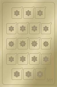AEROPUFFING Metallic Stickers №M01 Gold  - золотые металлизированные наклейки Аэропуффинг М1