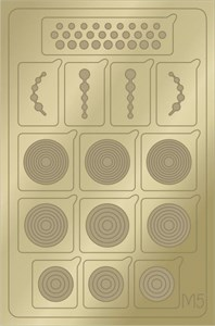 AEROPUFFING Metallic Stickers №M05 Gold - золотые металлизированные наклейки Аэропуффинг М5