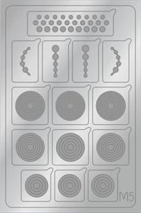 AEROPUFFING Metallic Stickers №M05 Silver - серебрянные металлизированные наклейки Аэропуффинг М5