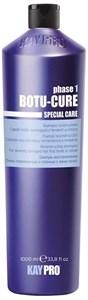 KAYPRO Botu-Cure Shampoo, 1000 мл. - Шампунь Ботокс восстанавливающий, для очень поврежденных и склонных к ломке волос
