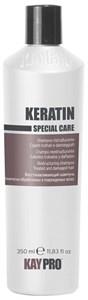 KAYPRO Keratin Shampoo, 350 мл. - Восстанавливающий шампунь с кератином, для поврежденных волос