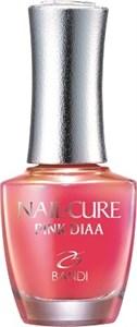 BANDI Nail Cure Pink DIAA, 14 мл. - Покрытие укрепляющее для тонких и поврежденных ногтей