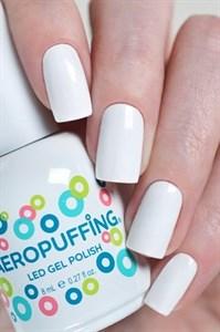 Aeropuffing LED Gel Polish №001, 8мл. - цветной гель лак #001 Аэропуффинг, белый