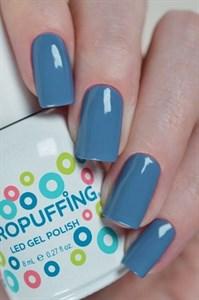 Aeropuffing LED Gel Polish №011, 8мл. - цветной гель лак #011 Аэропуффинг, серо-голубой