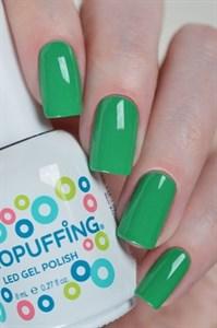 Aeropuffing LED Gel Polish №016, 8мл. - цветной гель лак #016 Аэропуффинг, зелёный