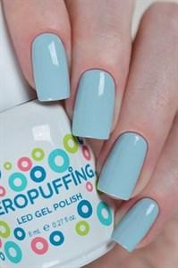 Aeropuffing LED Gel Polish №017, 8мл. - цветной гель лак #017 Аэропуффинг, голубой