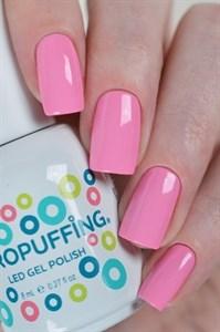 Aeropuffing LED Gel Polish №019, 8мл. - цветной гель лак #019 Аэропуффинг, розовый