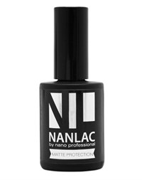 NP NANLAC Matte Protection Top Coat, 15 мл. - матовый топ для гель-лака Nano Professional