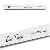 Nano Professional One Time File 100/180 - серая пилка для искусственных и натуральных ногтей