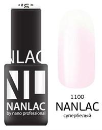 "NANLAC NL 1100 Супербелый, 6 мл. - гель-лак ""Линия Улыбки"" Nano Professional"