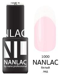 "NANLAC NL 1000 Белый лёд, 6 мл. - гель-лак ""Линия Улыбки"" Nano Professional"