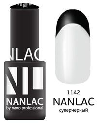 """NANLAC NL 1142 Супер чёрный, 6 мл. - гель-лак """"Линия Улыбки"""" Nano Professional"""