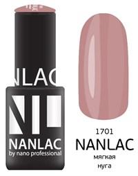 "NANLAC NL 1701 Мягкая нуга, 6 мл. - гель-лак ""Камуфлирующий"" Nano Professional"