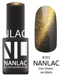 "NANLAC NL 4101 Сен-Эликс-ле-Шато, 6 мл. - гель-лак ""Кошачий глаз"" Nano Professional"