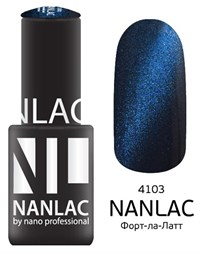 "NANLAC NL 4103 Форт-ла-Латт, 6 мл. - гель-лак ""Кошачий глаз"" Nano Professional"