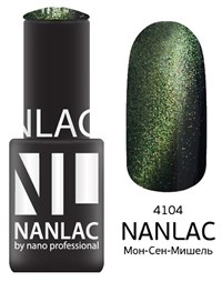"NANLAC NL 4104 Мон-Сен-Мишель, 6 мл. - гель-лак ""Кошачий глаз"" Nano Professional"