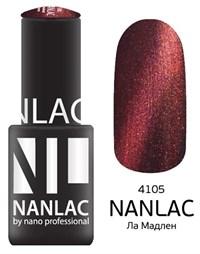 "NANLAC NL 4105 Ла Мадлен, 6 мл. - гель-лак ""Кошачий глаз"" Nano Professional"