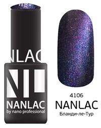 "NANLAC NL 4106 Бланди-ле-Тур, 6 мл. - гель-лак ""Кошачий глаз"" Nano Professional"