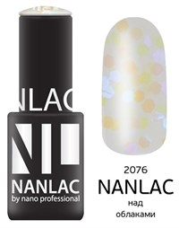 "NANLAC NL 2076 Над облаками, 6 мл. - гель-лак ""Эффект"" Nano Professional"