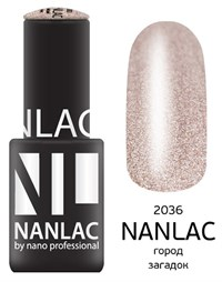 "NANLAC NL 2036 Город загадок, 6 мл. - гель-лак ""Металлик"" Nano Professional"