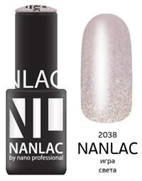 "NANLAC NL 2038 Игра света, 6 мл. - гель-лак ""Металлик"" Nano Professional"