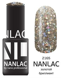 "NANLAC NL 2165 Золотой бриллиант, 6 мл. - гель-лак ""Металлик"" Nano Professional"
