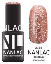 "NANLAC NL 2168 Розовый бриллиант, 6 мл. - гель-лак ""Металлик"" Nano Professional"